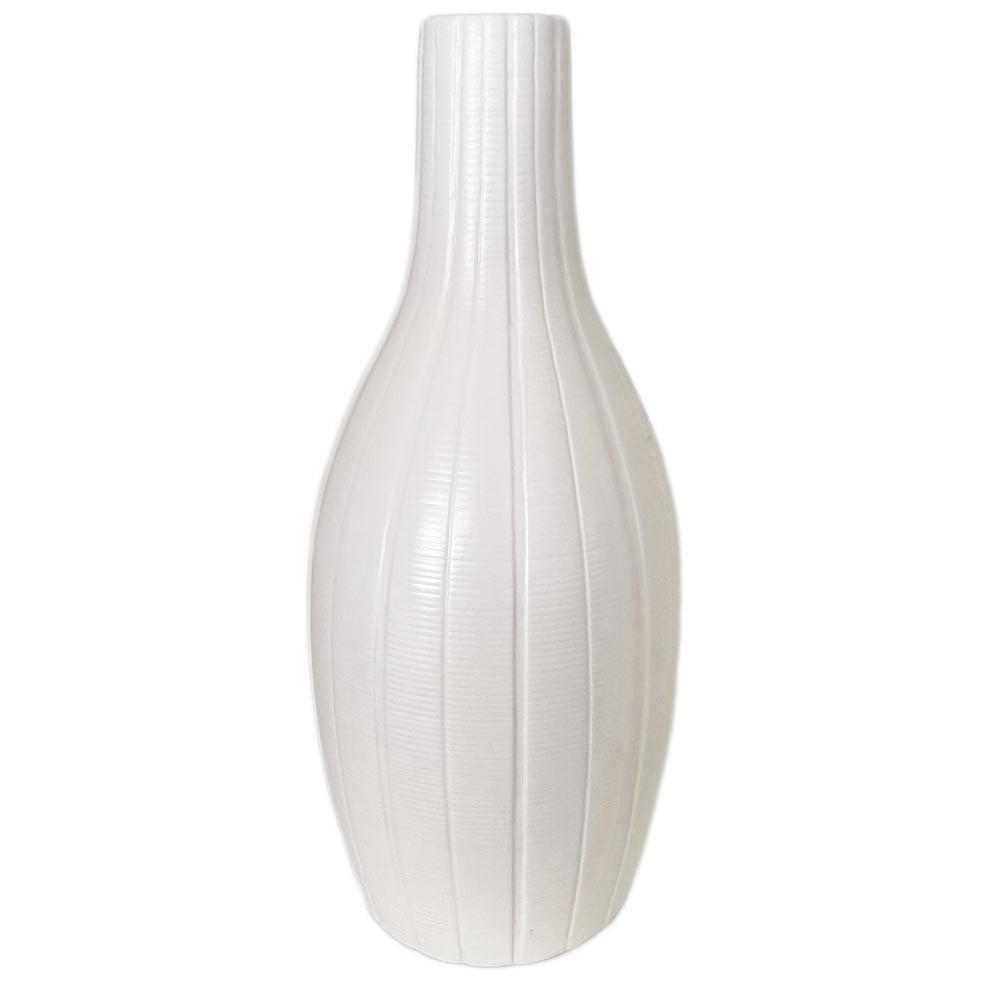 Vase Edvin weiß H36cm