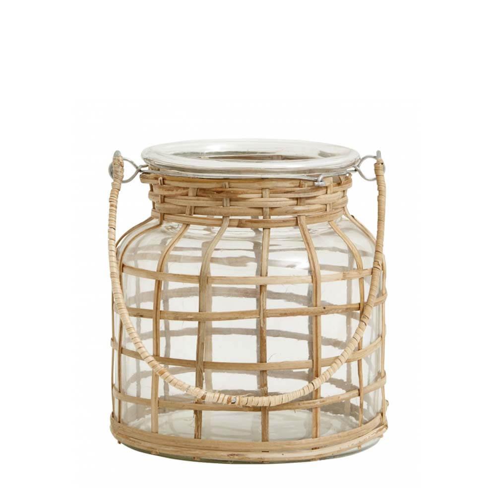 Nordal Windlicht Bambus klein