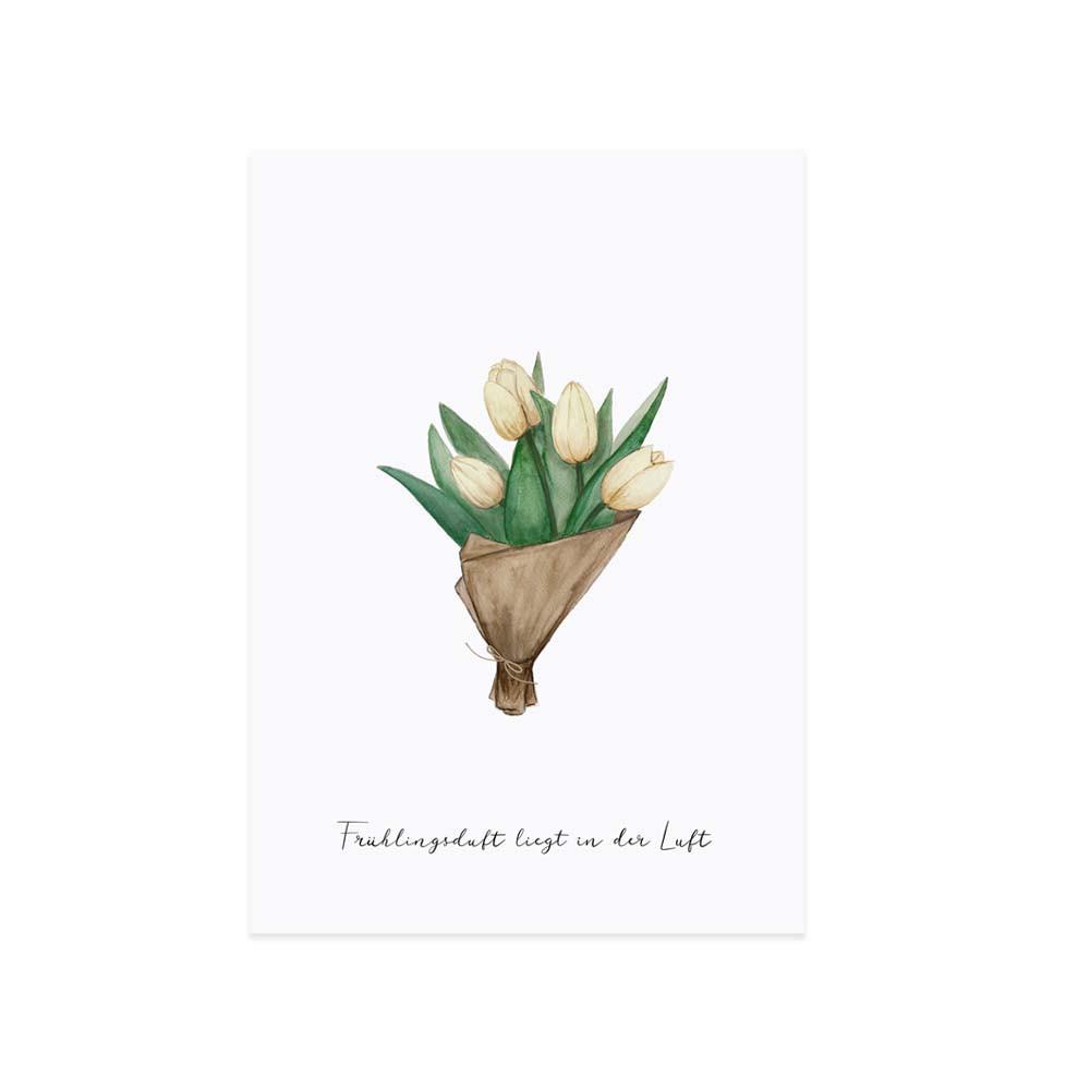 Osterkarte Tulpen