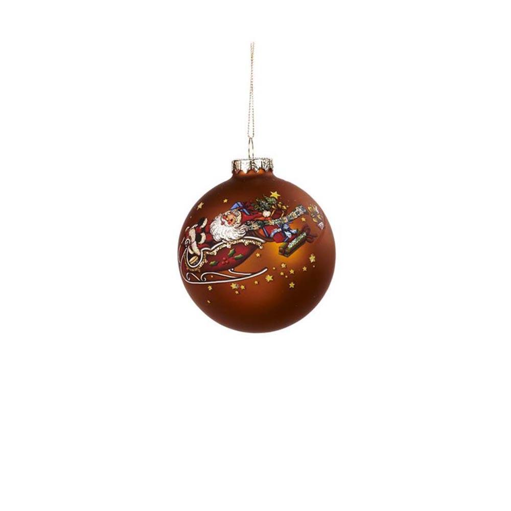 Goodwill Christbaumkugel Santa Claus braun