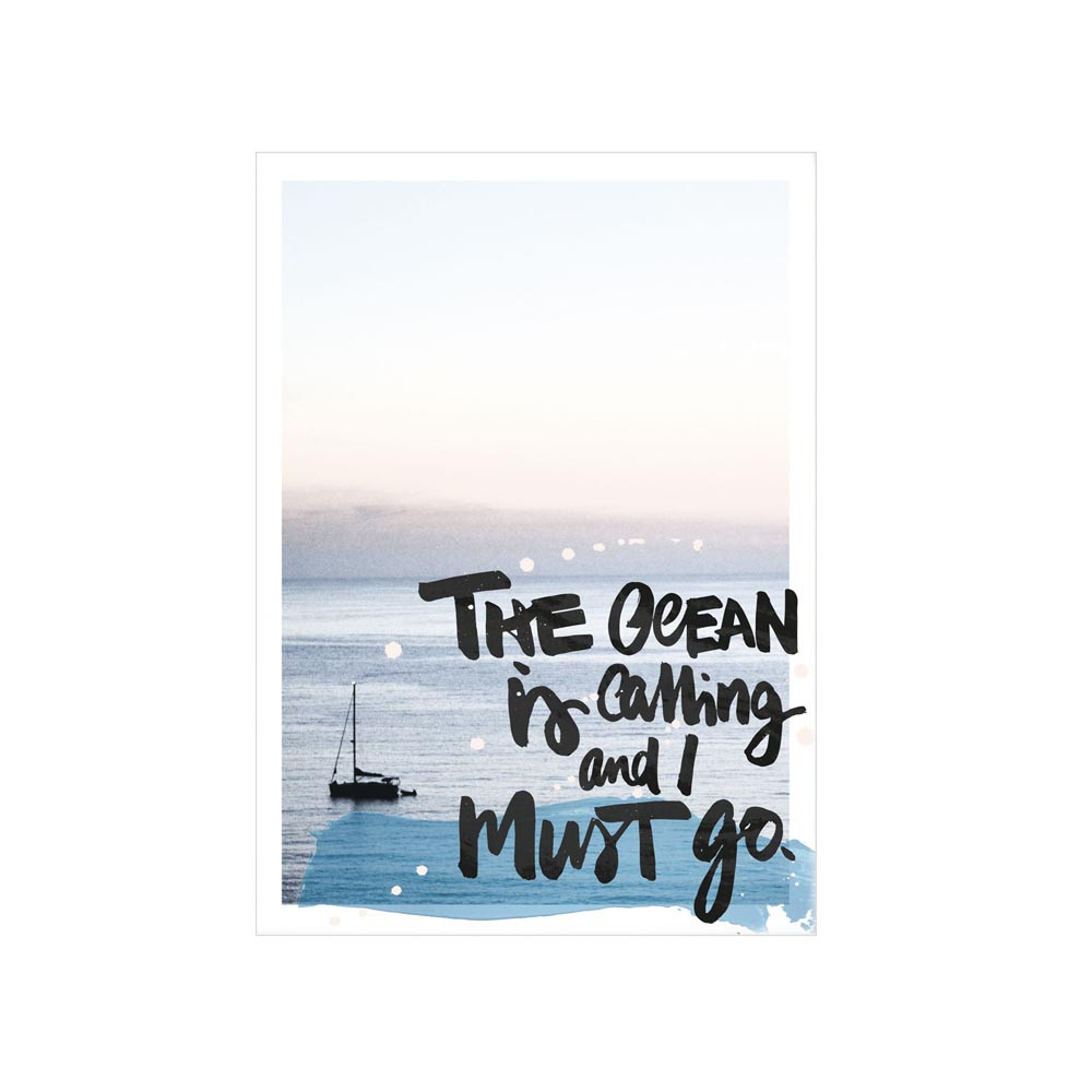 Formart Postkarte Ocean is calling
