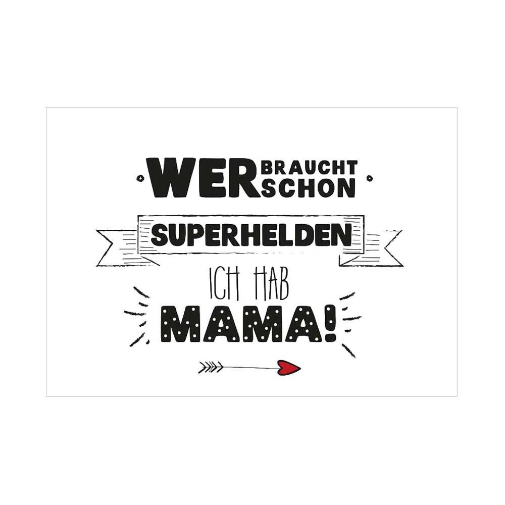 Formart Kunstdruck Superhelden Mama