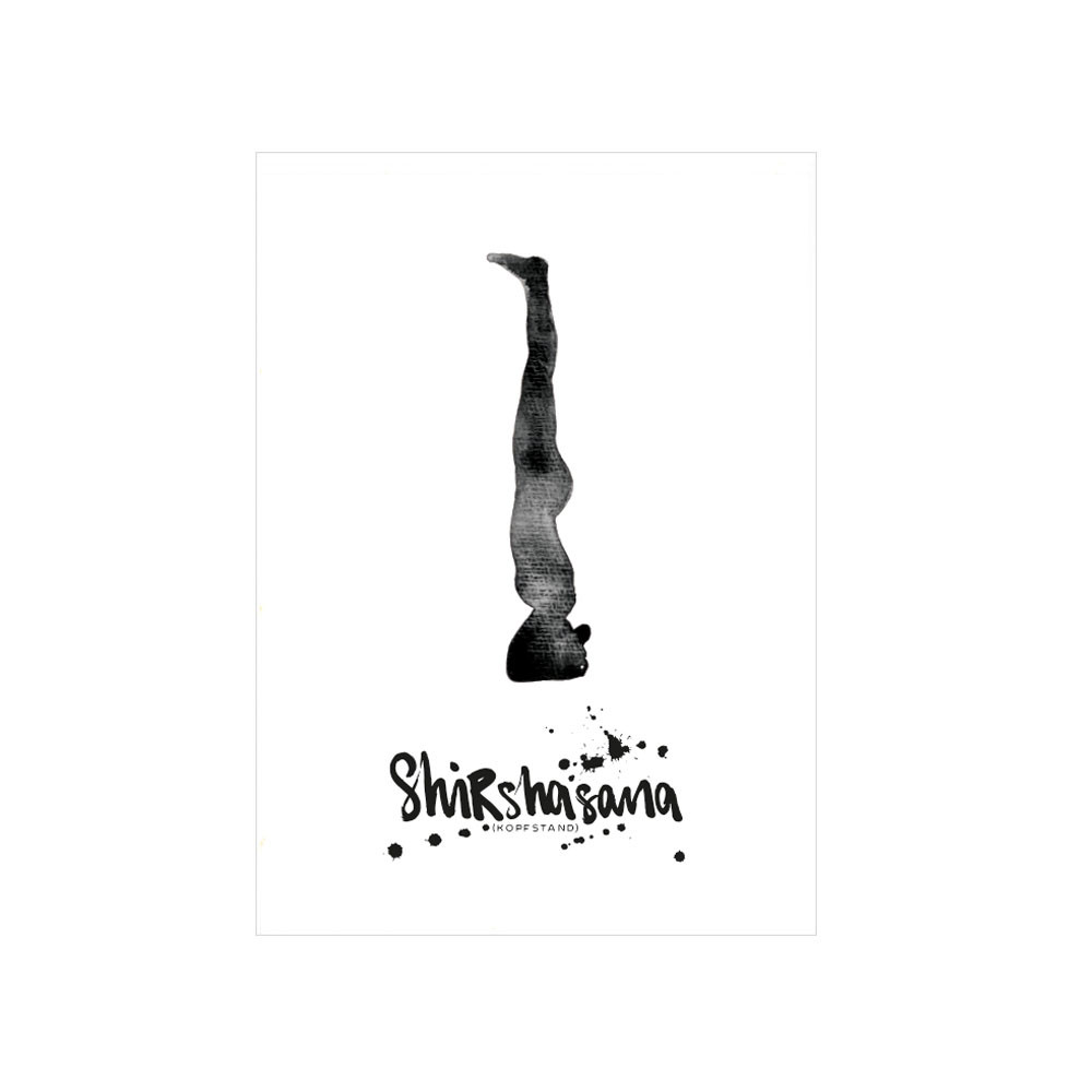 Formart Postkarte Shirshasana