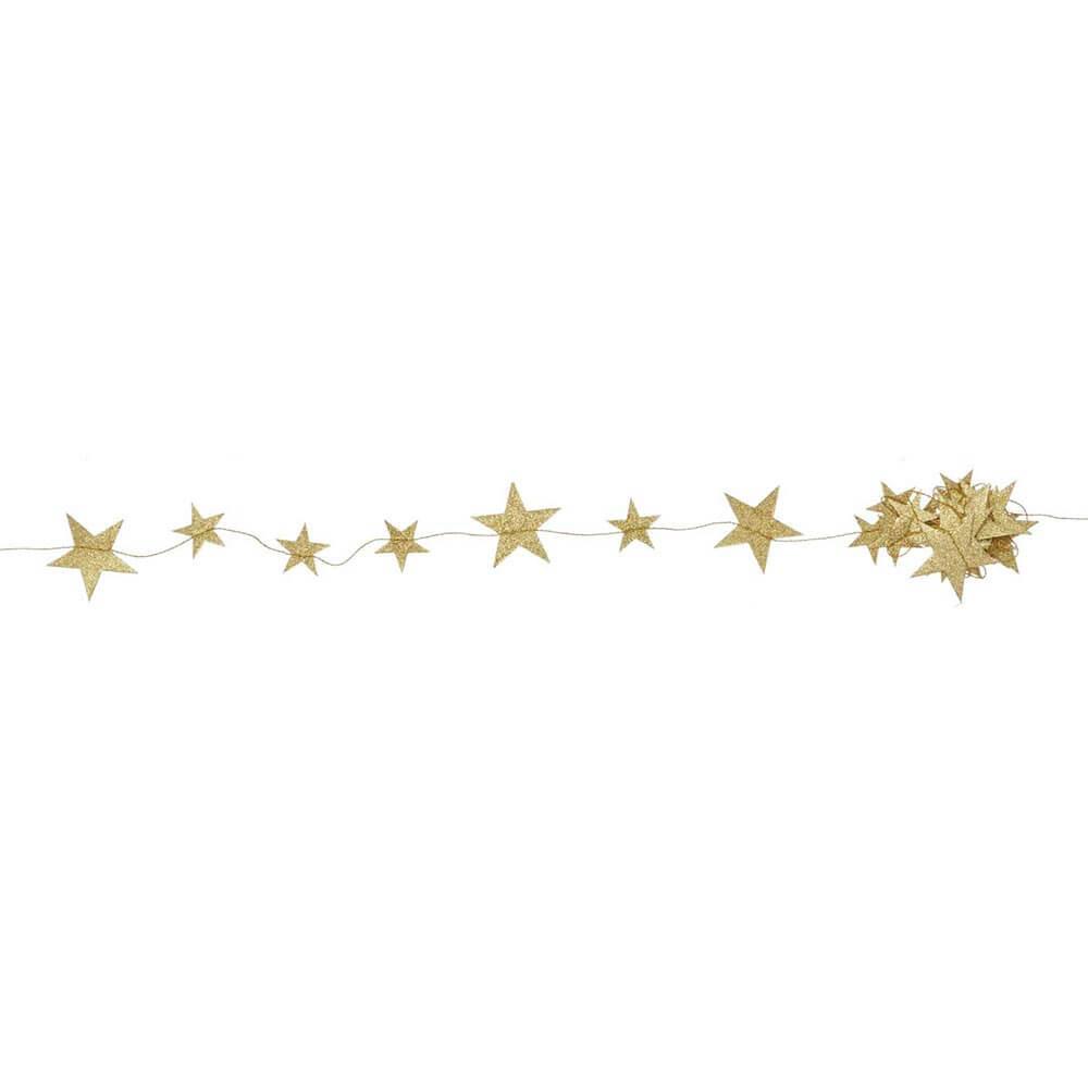 Bungalow Girlande Sterne gold