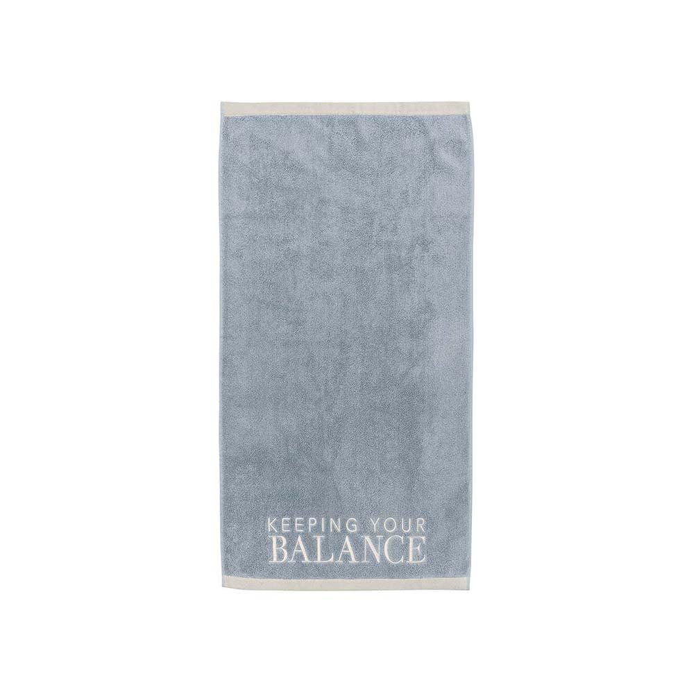 Räder Handtuch Keeping your balance blau
