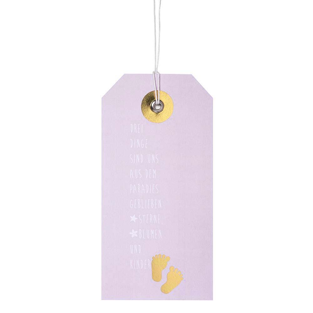 Räder Luxus Hangtag Karte Geburt Mädchen