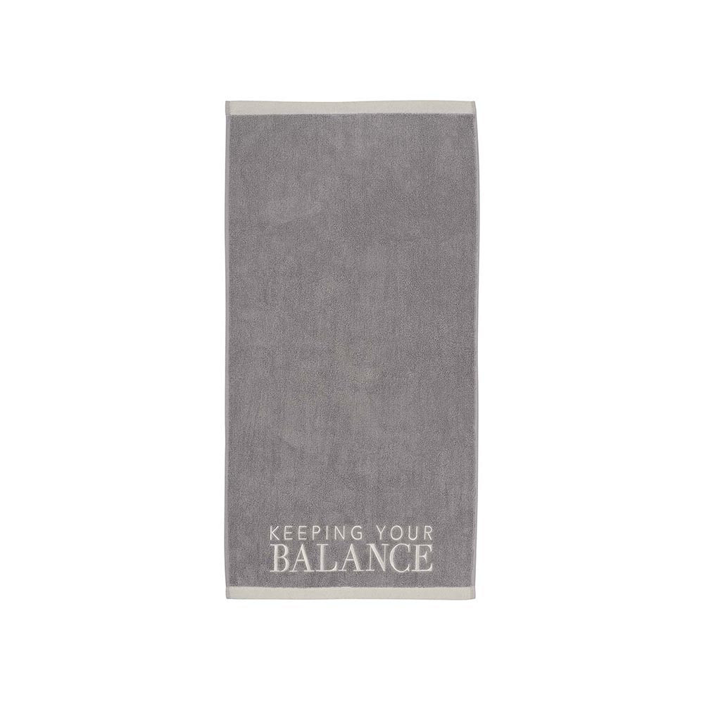 Räder Handtuch Keeping your balance grau