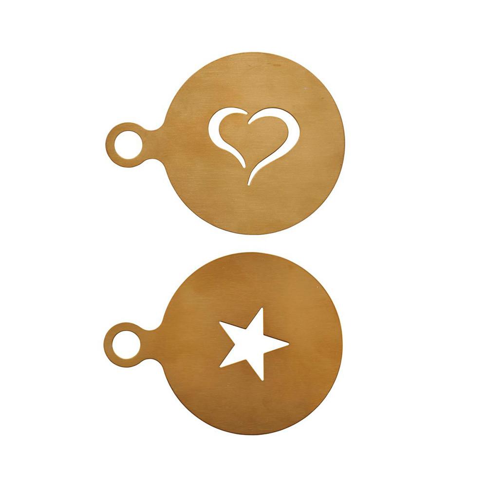 Kaffeeschablonen Set gold