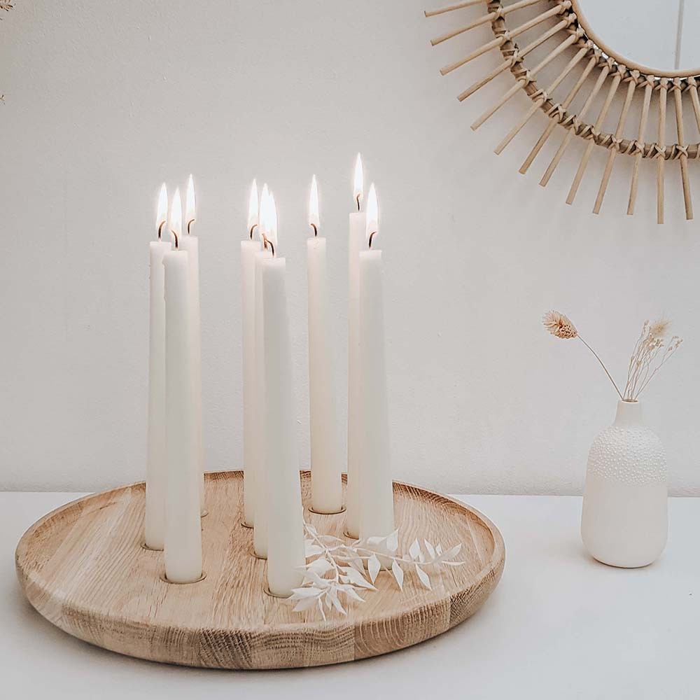 Eulenschnitt Kerzenhalter