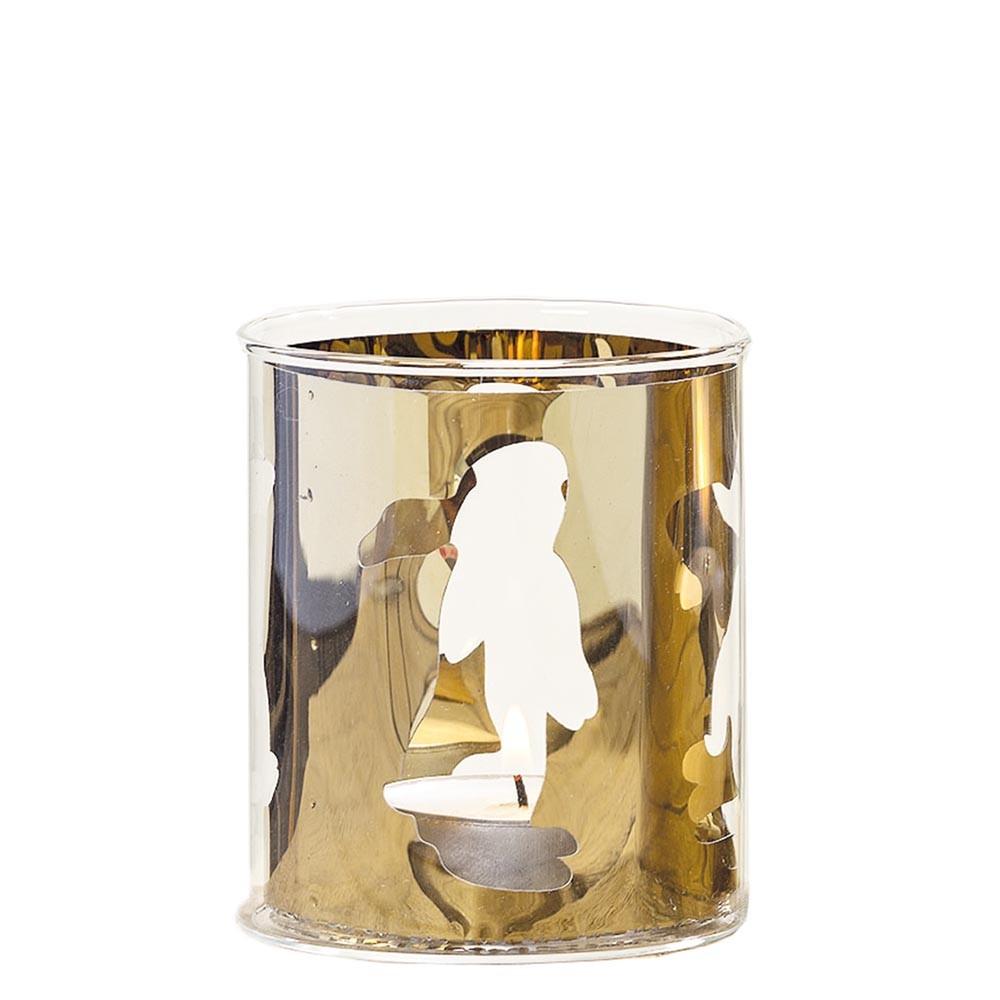 Windlicht Rabbit gold 8cm