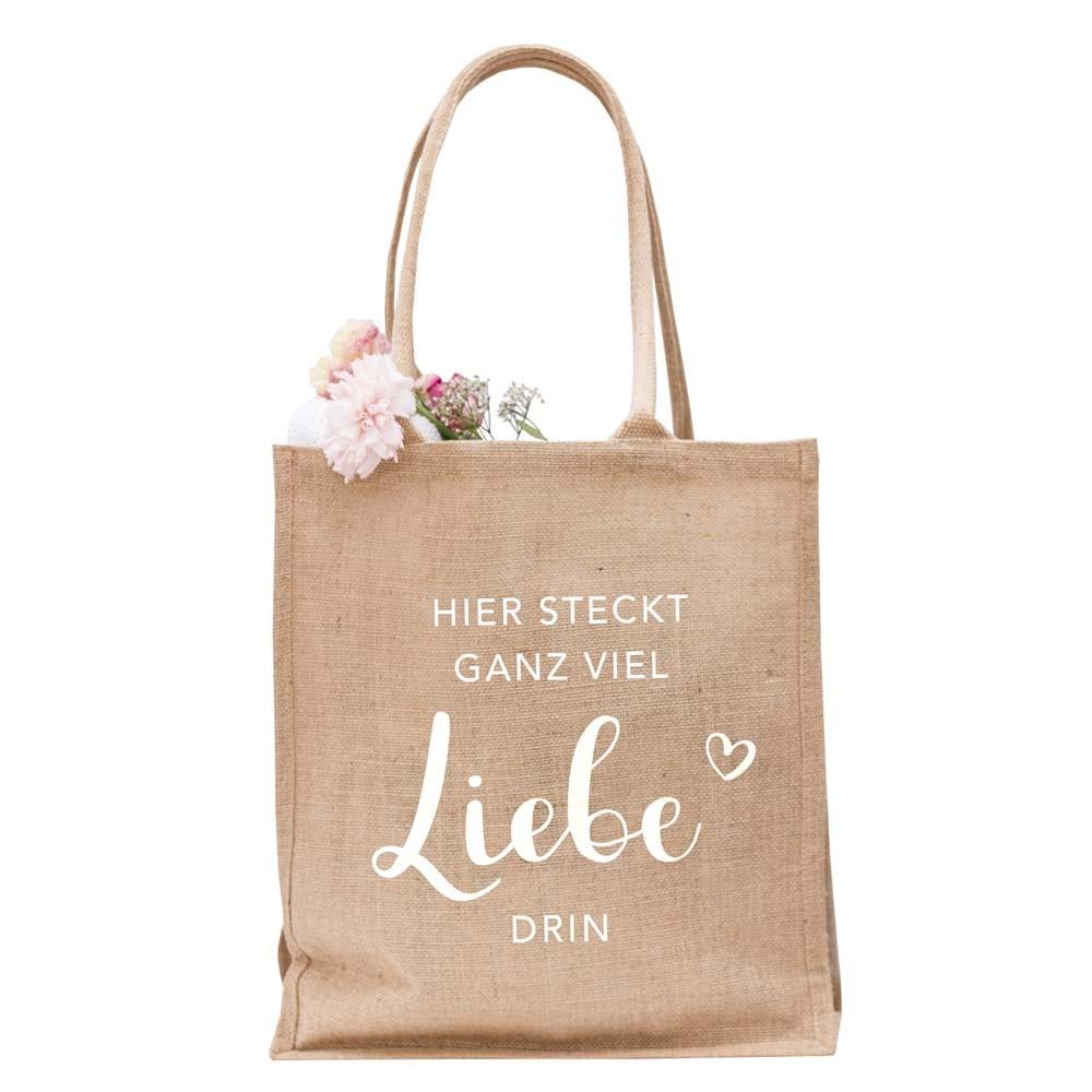 Jute Shopper Liebe
