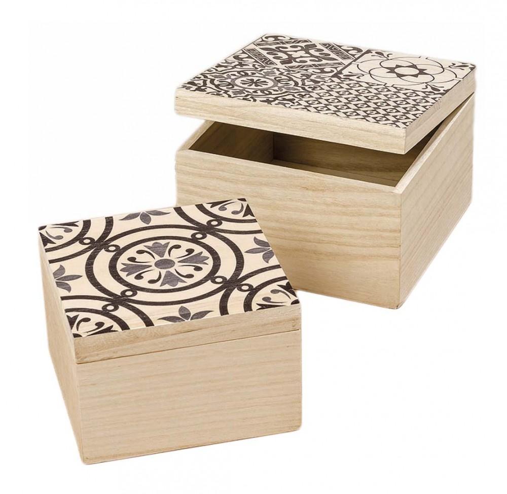 Holzbox 2er Set Milus