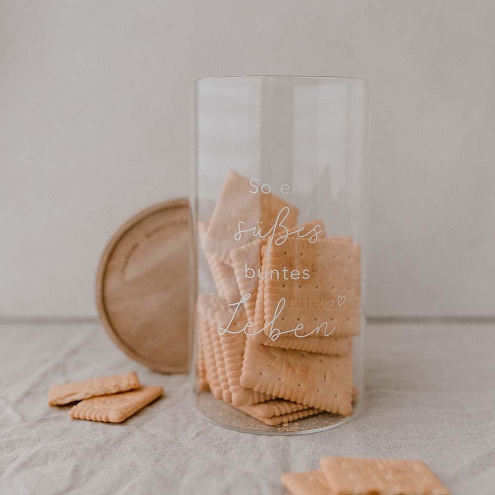 Vorratsglas Süßes Leben 19 cm