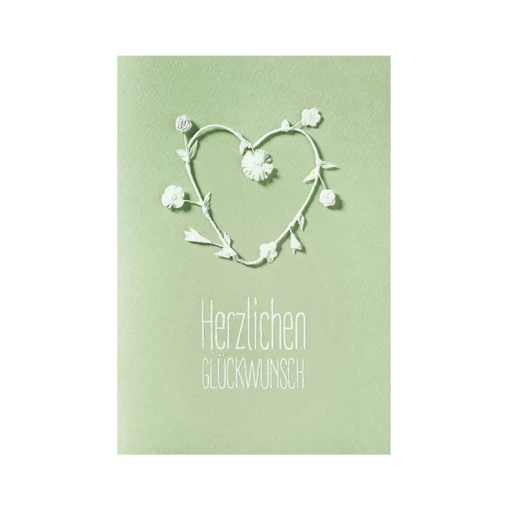 Räder Weiße Blütenkarte Herzlichen Glückwunsch