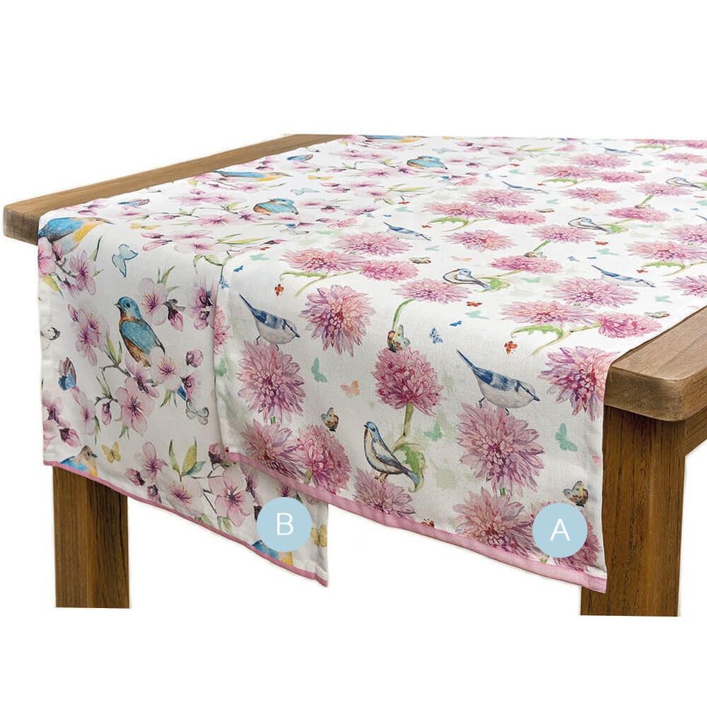 Tischläufer Peonie Dekor Chrysantheme Design A