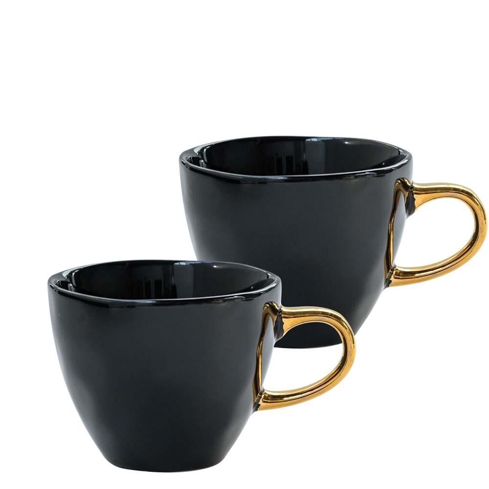 Mini Tasse Good Morning Ø8.5 cm 2er Set schwarz