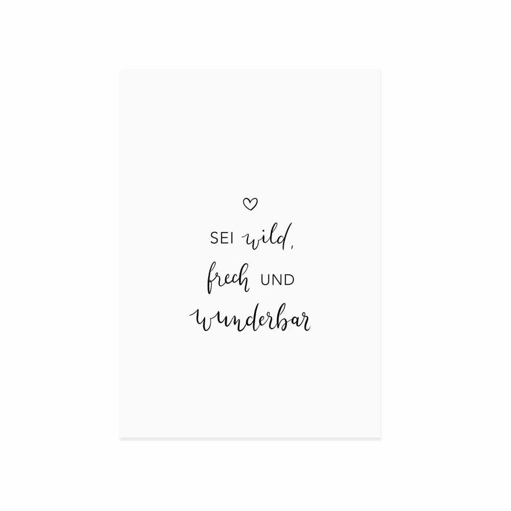 Spruchkarte Wild und frech
