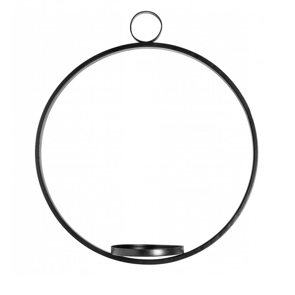 Kerzenhalter Circle hängend schwarz