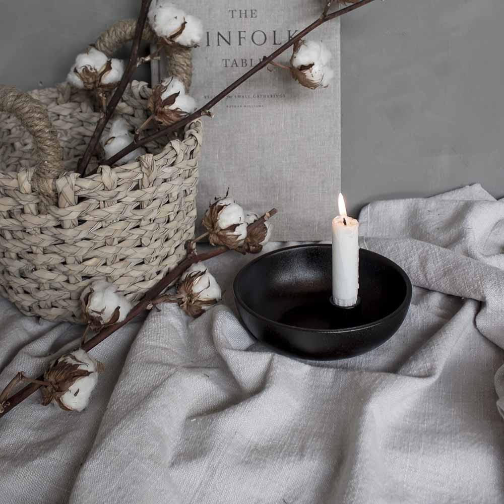 Storefactory Kerzenhalter Lidatorp glänzend schwarz