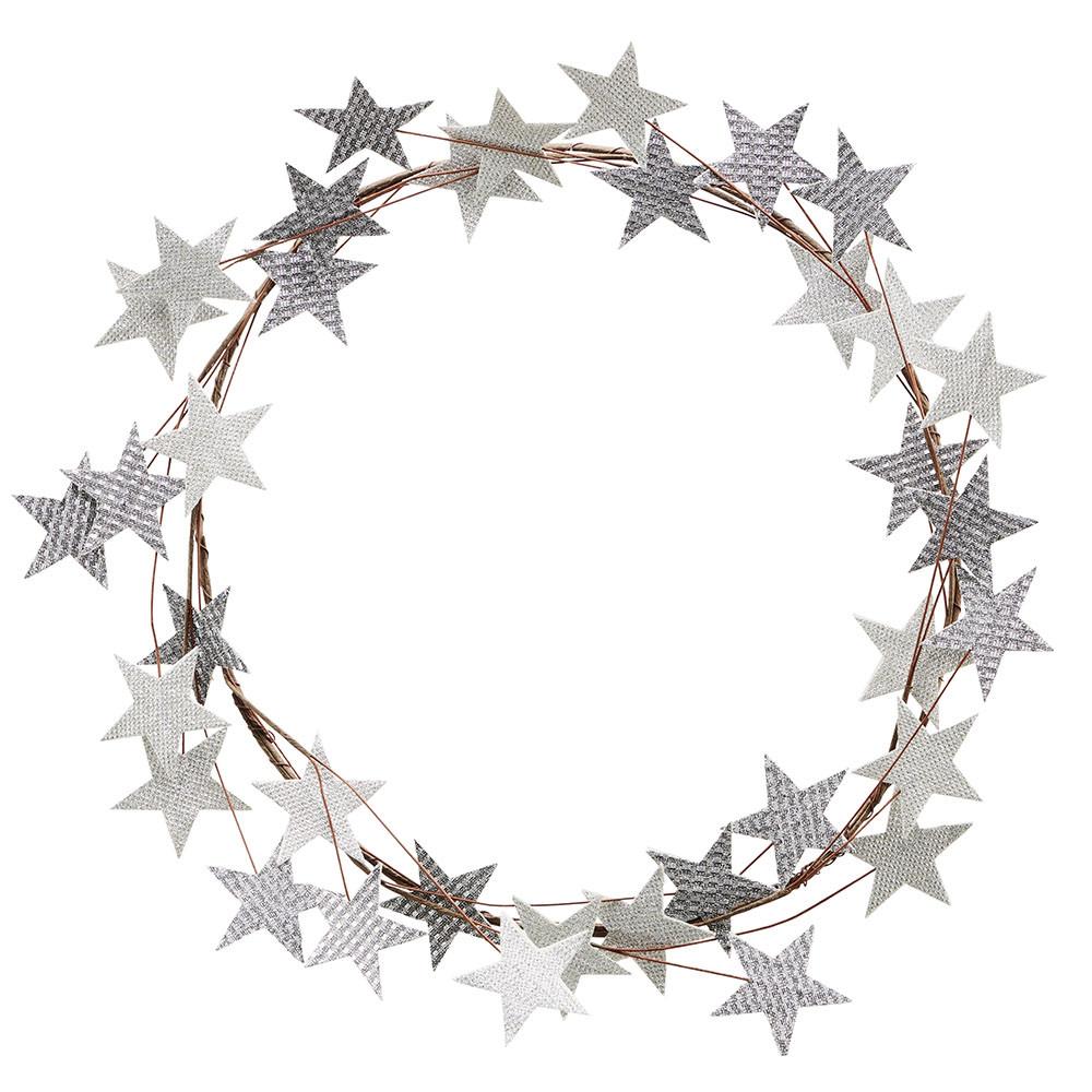 House Doctor Kranz mit Sternen silber