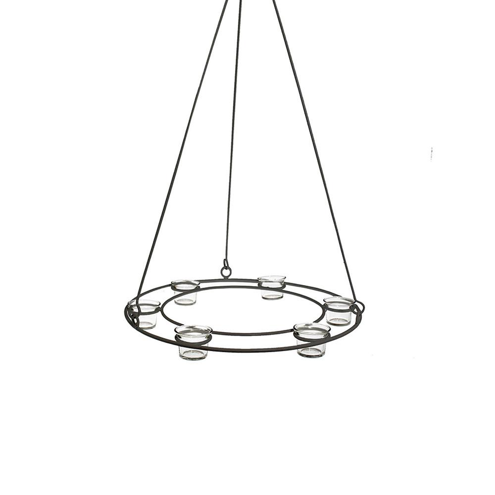 Storefactory Teelichthalter Kranz Virestad grau