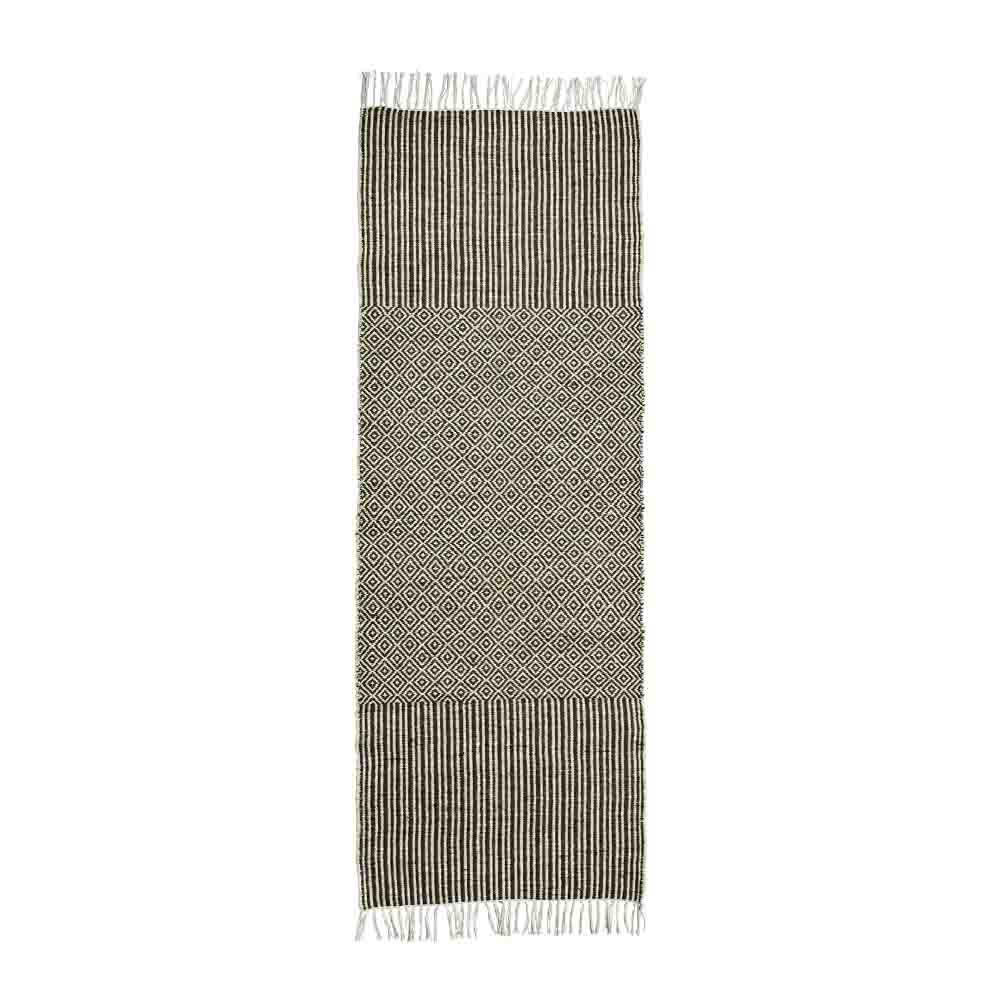 Madam Stoltz Teppich braun-natur 70x200 cm