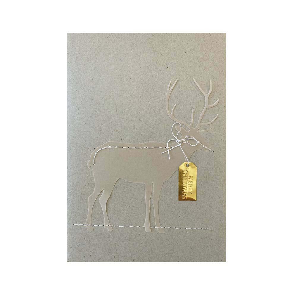 Räder Weihnachts Fadenkarte Rentier