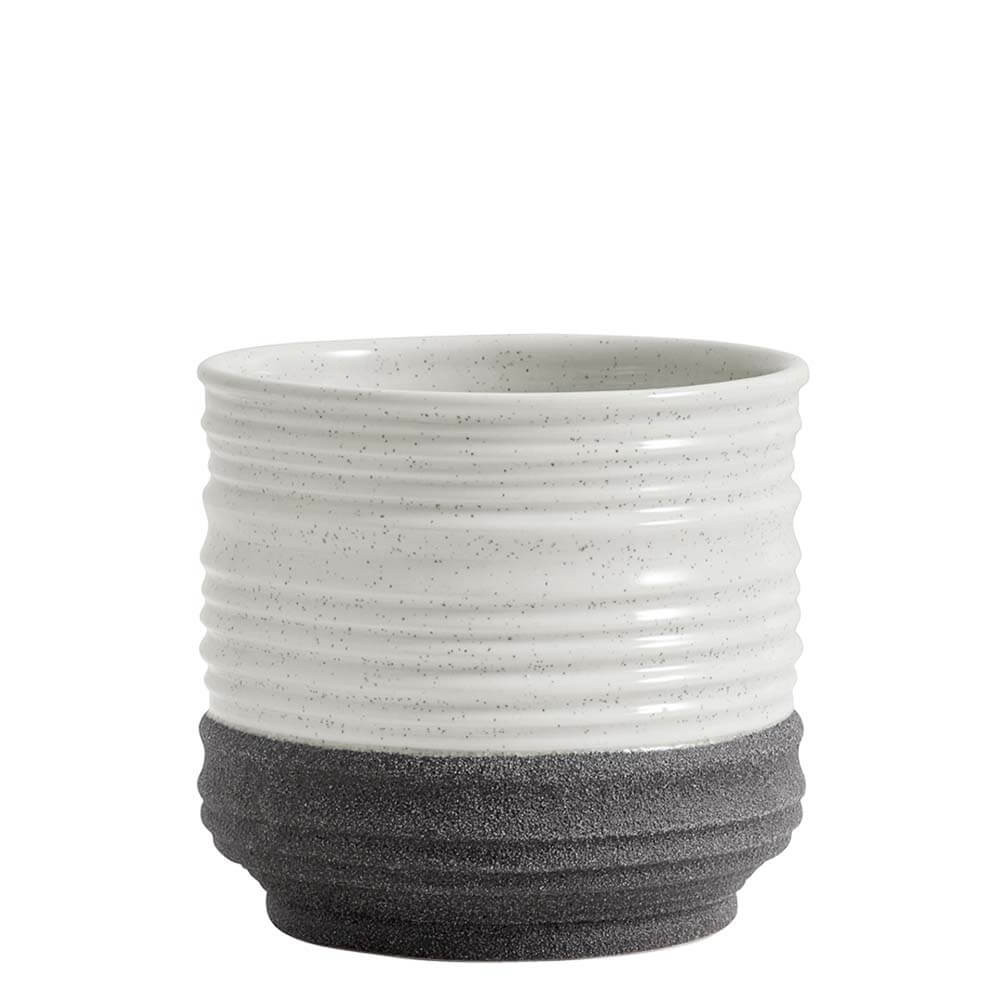 Blumentopf weiß/grau Ø15 cm