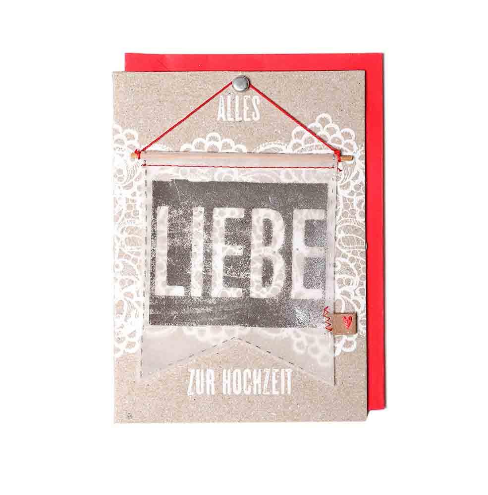 Good old friends Wimpelkarte Alles Liebe zur Hochzeit