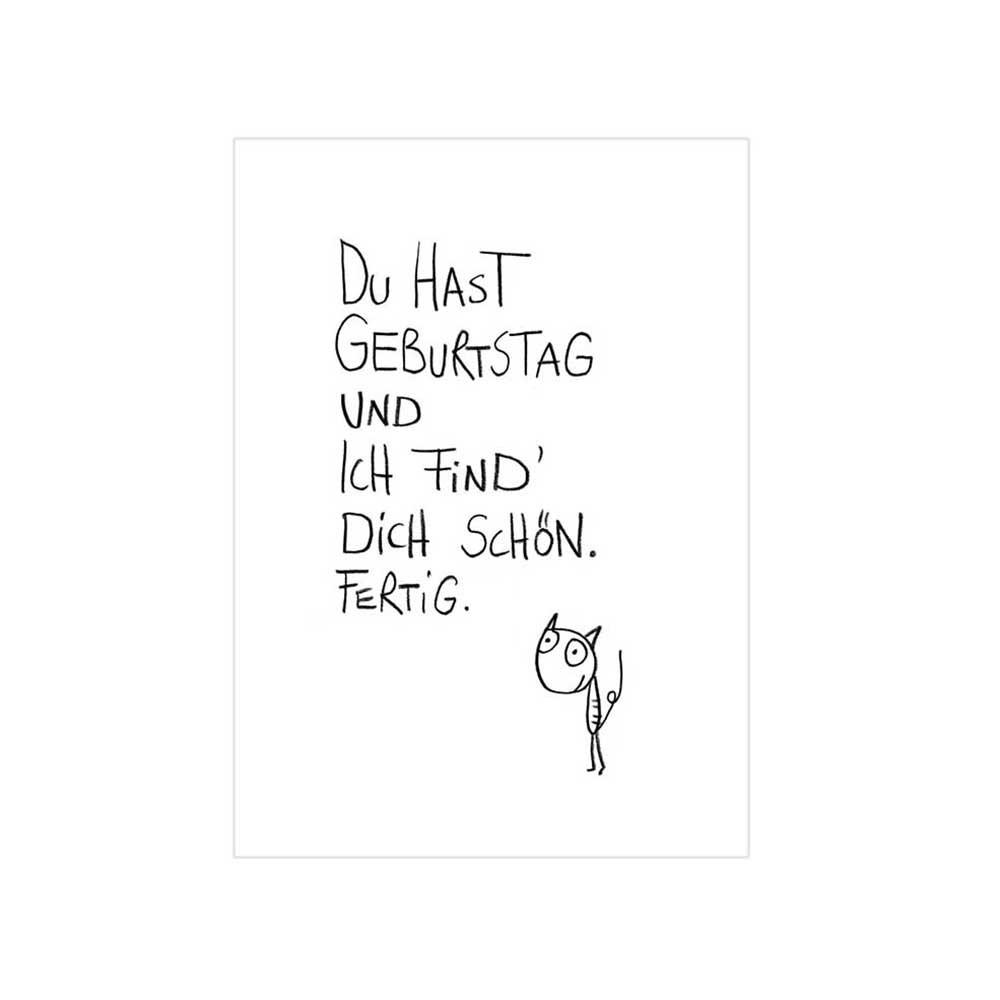 eDITION GUTE GEISTER Postkarte Schöner Geburtstag