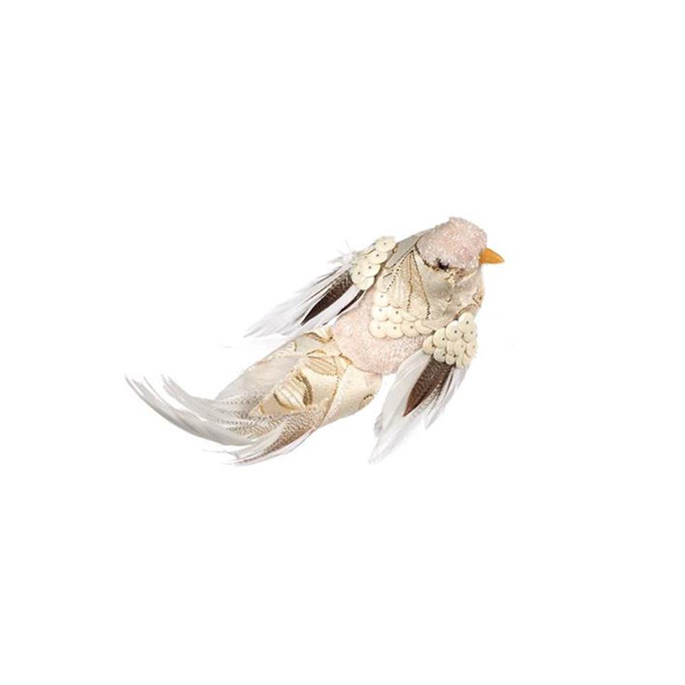 Goodwill Vogel mit Clip rechts blickend creme