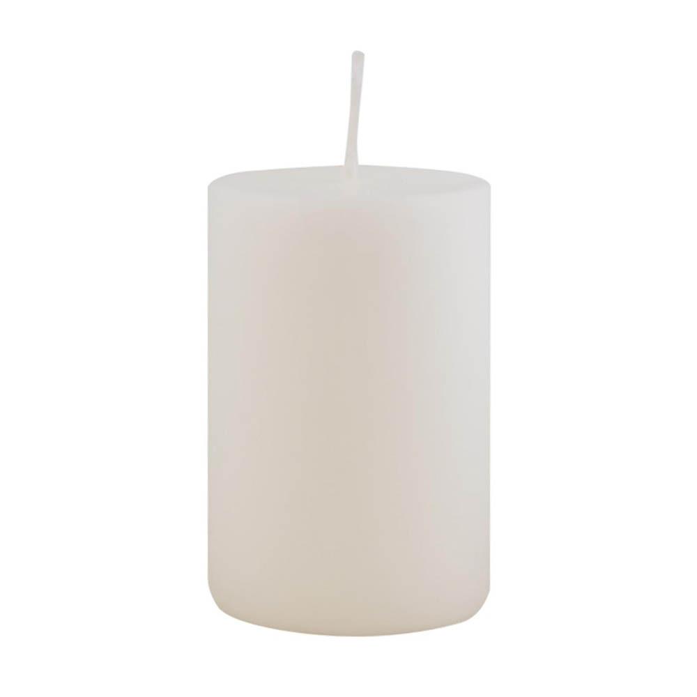 Stumpenkerze H10xØ6 cm weiß