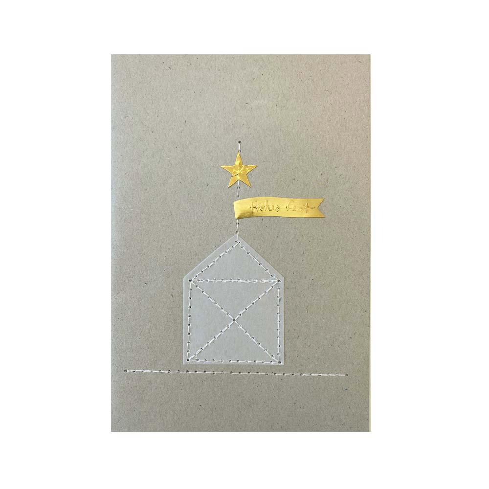 Räder Weihnachts Fadenkarte Haus