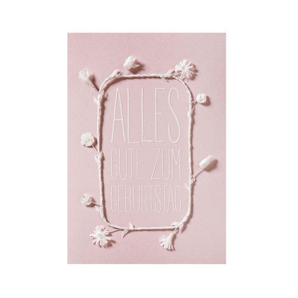 Räder Weiße Blütenkarte Alles Gute zum Geburtstag