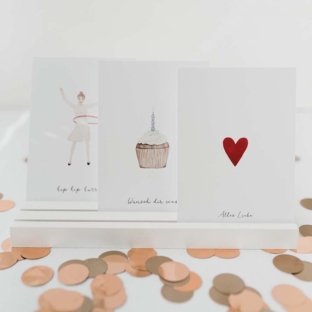 Kartenständer 25 cm weiß
