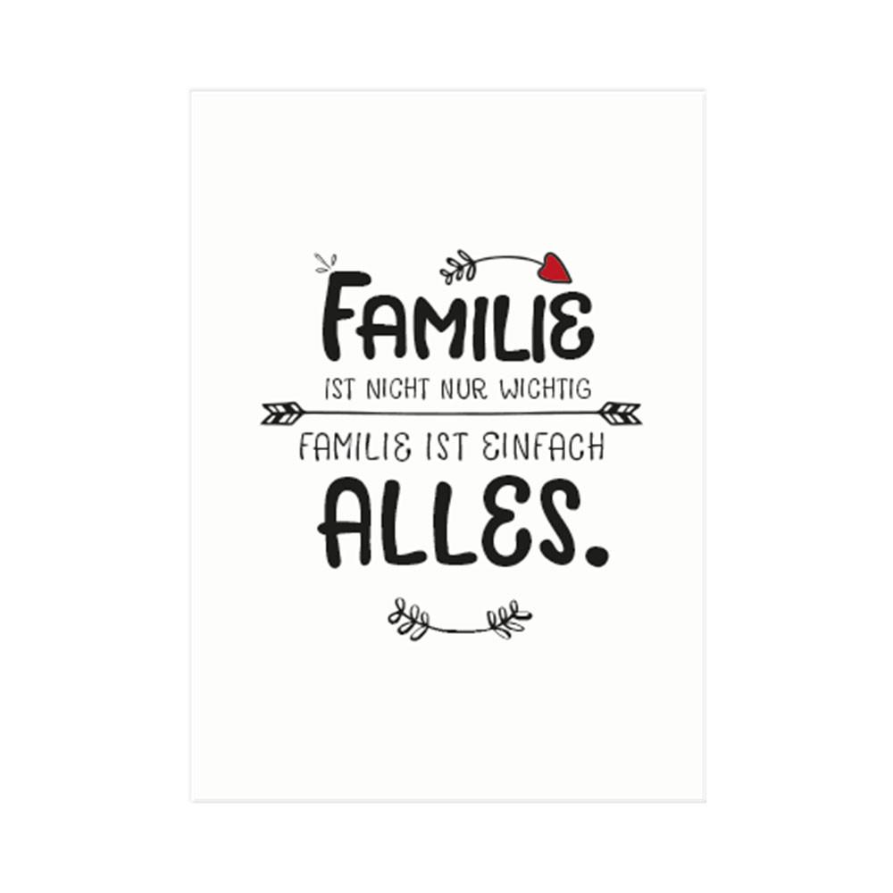 Formart Kunstdruck Familie ist nicht nur wichtig