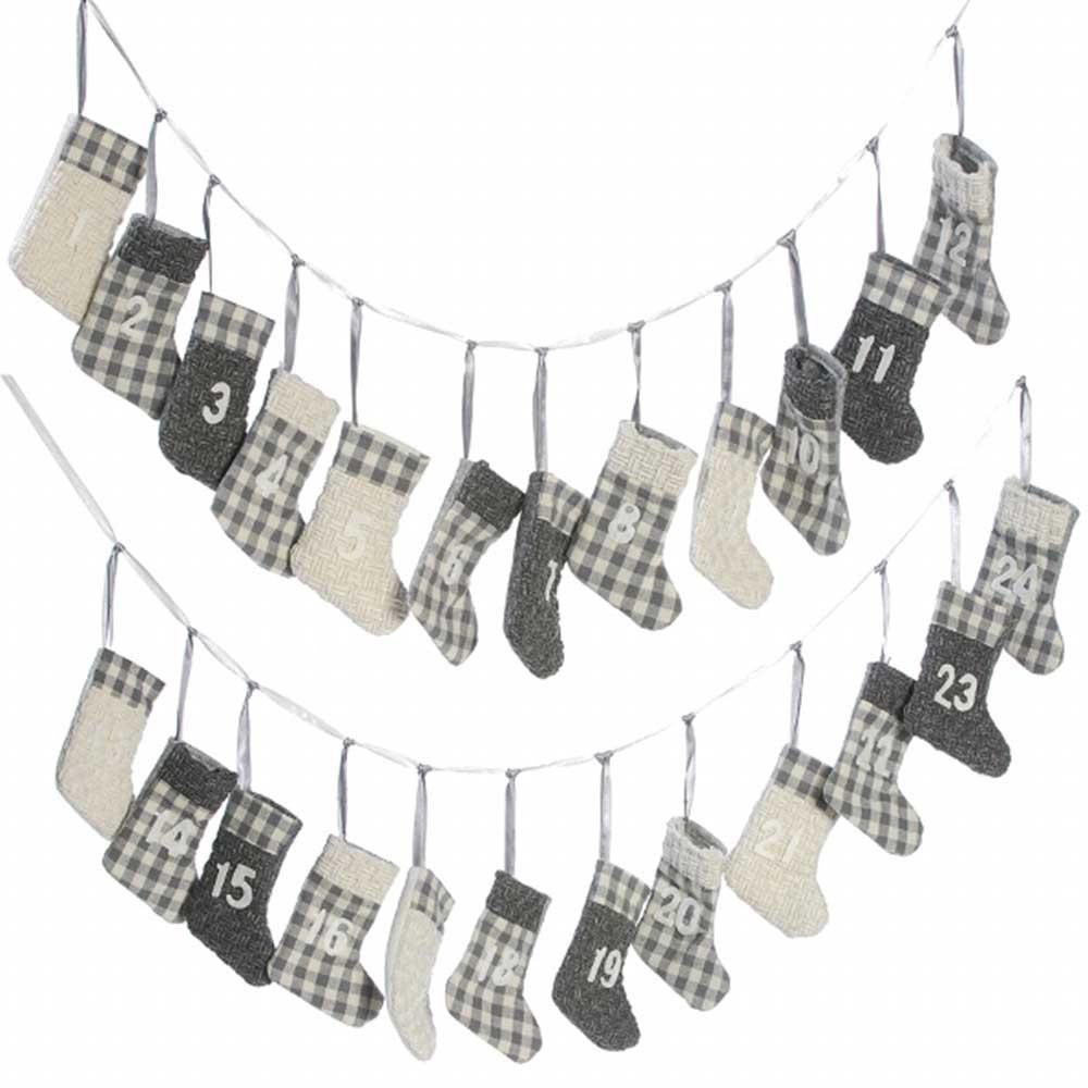 Baden Adventskalender Socken grau