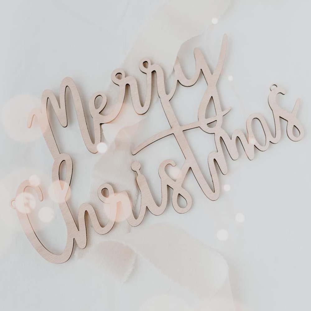 Holzschriftzug Merry Christmas