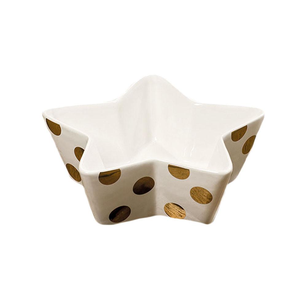 Schale Stern mit goldenen Dots 15 cm