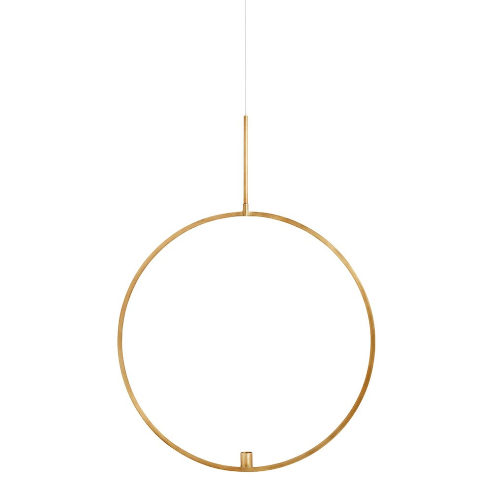 Kerzenhalter Circle hängend gold Ø52 cm