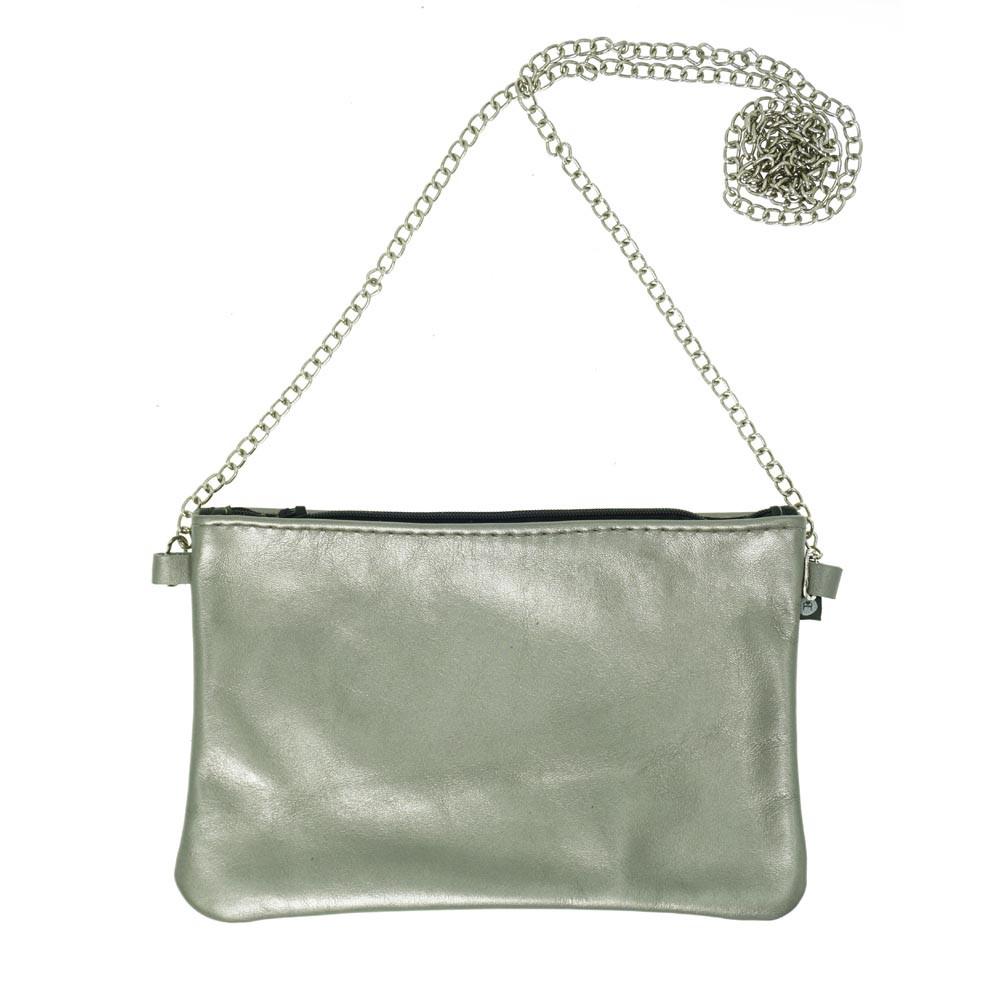 Von Herzen Partybag klein metallic platin