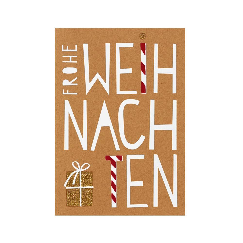 Räder Glanzstücke Karte Frohe Weihnachten