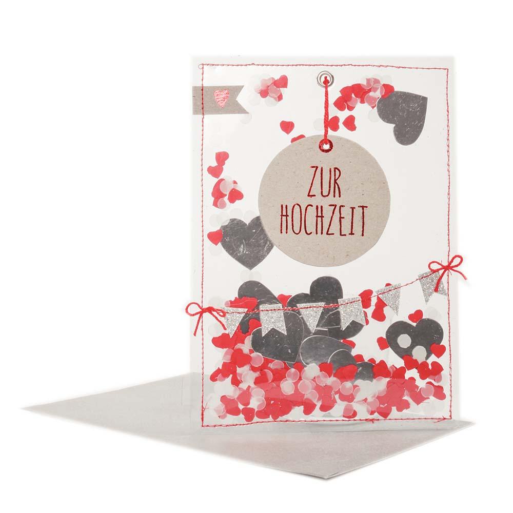 Good old friends Glitzer Herz Zur Hochzeit