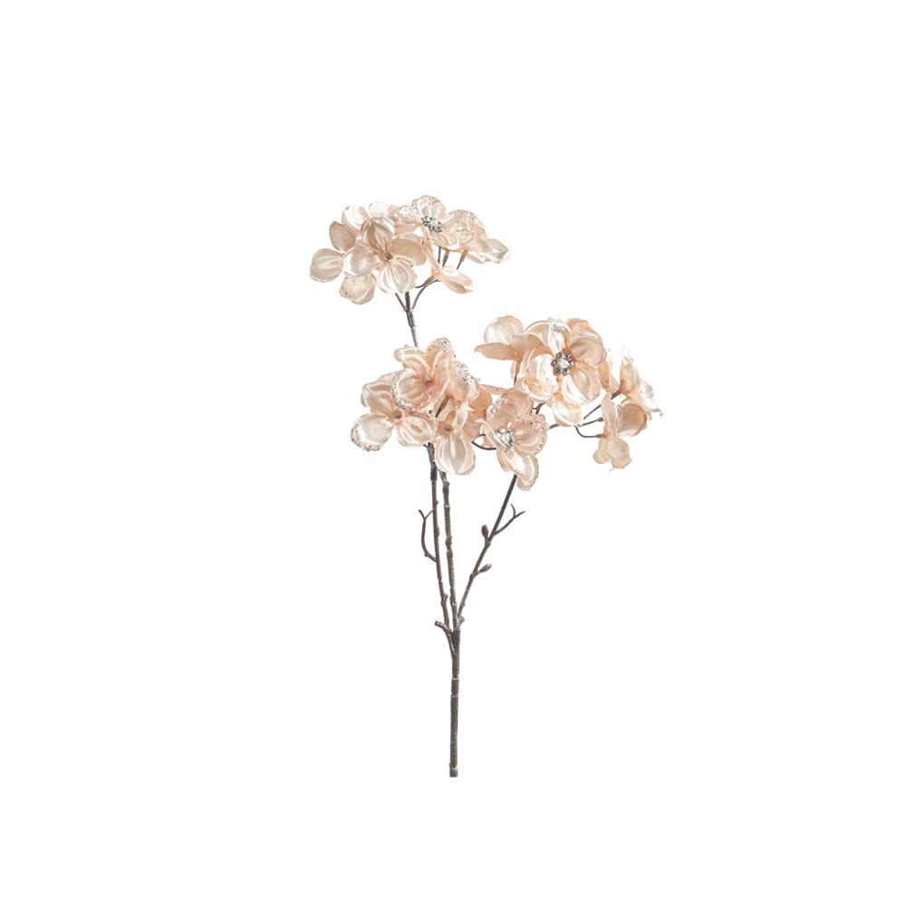 Goodwill Juwelen Blume mit Perlen rosé