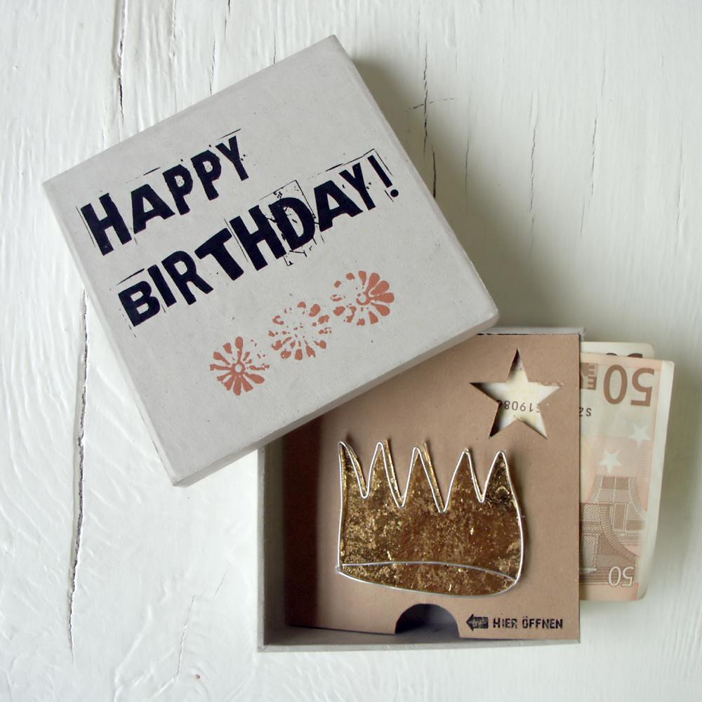 Good old friends Geldgeschenk Box Happy Birthday