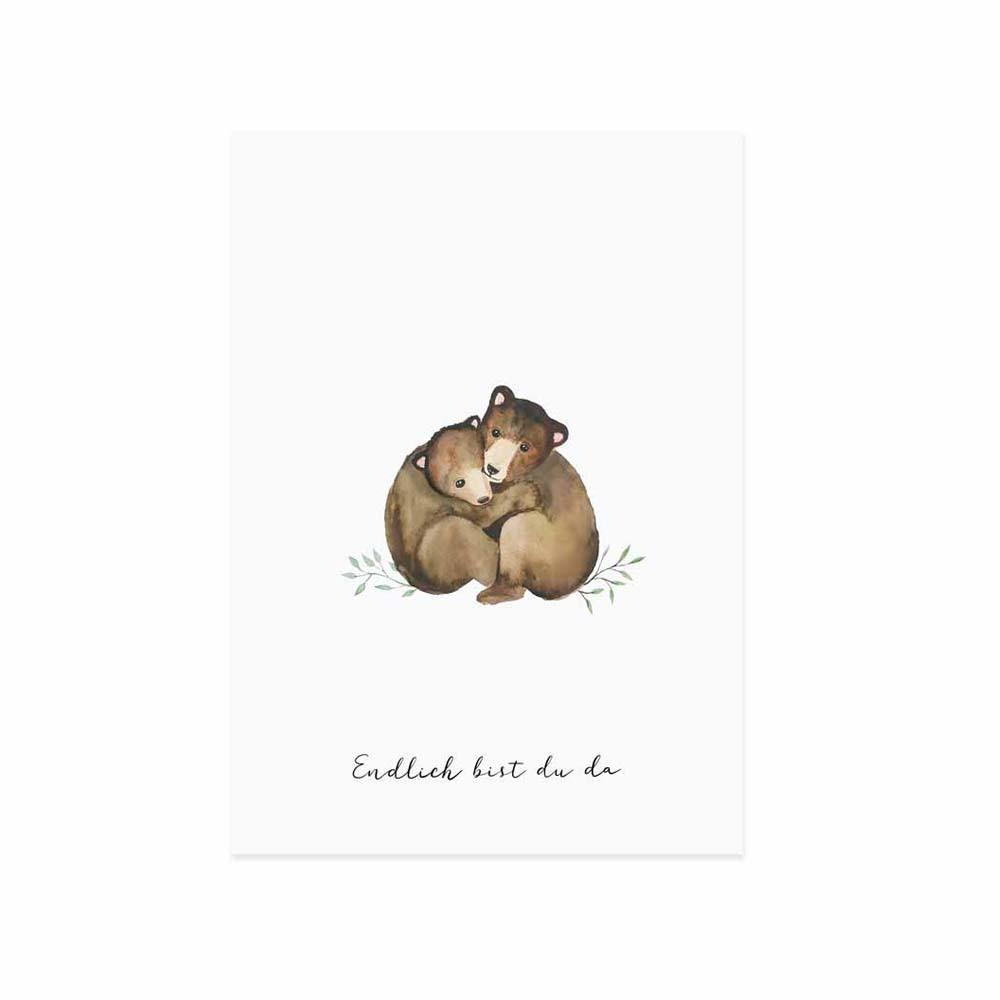 Glückwunschkarte Kleine Bären