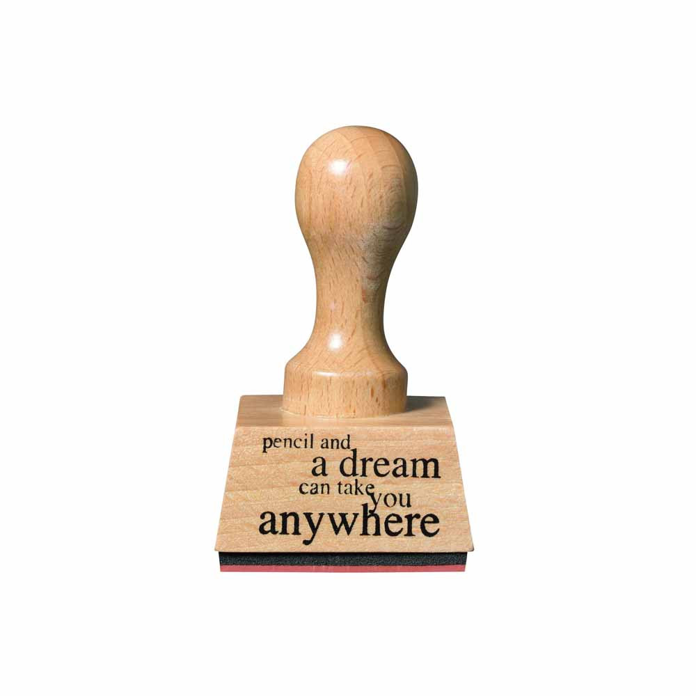 Räder Paper & Poetry Stempel Pencil and a Dream can take