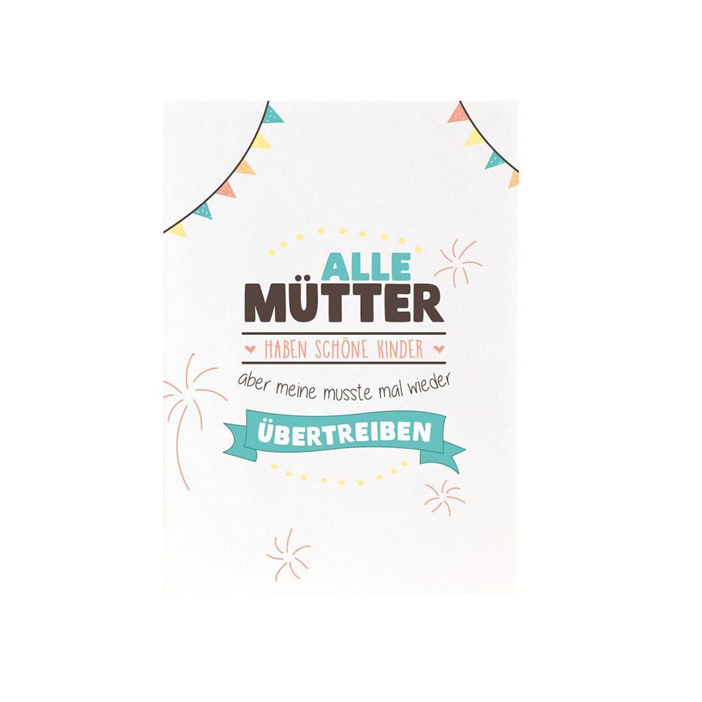 Formart Postkarte Alle Mütter haben schöne Kinder