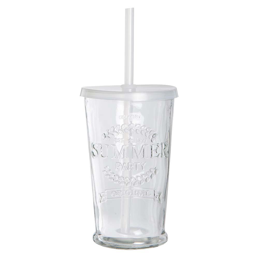 IB Laursen Glas mit Strohalm