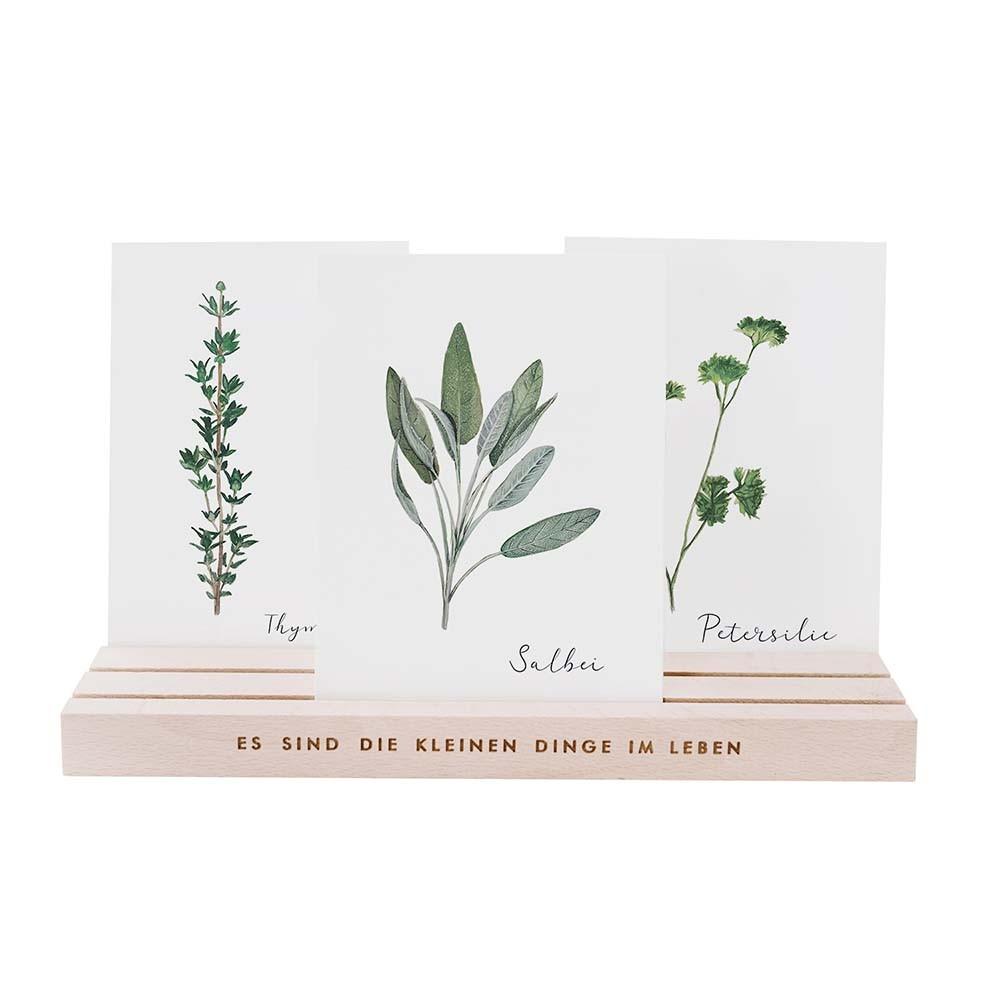 Kartenständer 25 cm natur